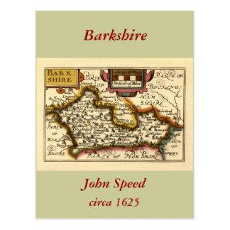 Barkshire Berkshire County Map England Postcards