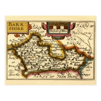 Barkshire Berkshire County Map England Post Card
