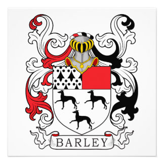 Barley Family Crest Personalized Announcements