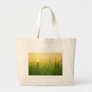 barley field asia large tote bag