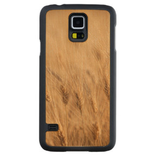 Barley field carved maple galaxy s5 case