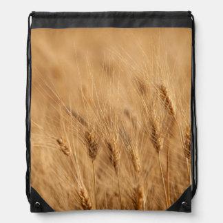 Barley field drawstring bag