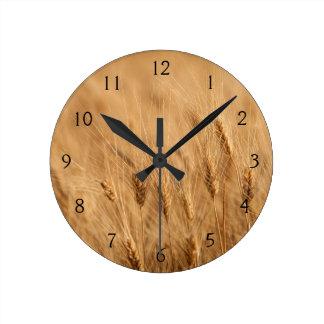 Barley field round clock