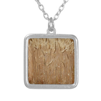 Barley Field Square Pendant Necklace