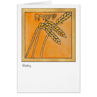 Barley, one of the seven species of Israel Card
