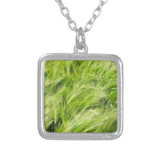 barley square pendant necklace