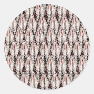 Barley texture classic round sticker