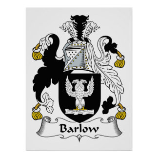 Barlow Family Crest Poster