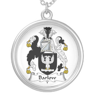Barlow Family Crest Round Pendant Necklace
