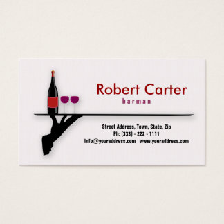 Barman / Bar / Waitress / Cocktail Wine Card