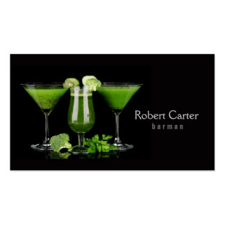 Barman / Vegetarian / Healthy Life / Raw Food Card Business Card
