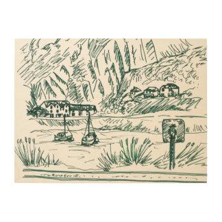Barmouth wood print