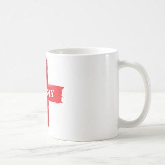 Barmy England Flag Classic White Coffee Mug