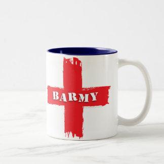Barmy England Flag Two-Tone Coffee Mug
