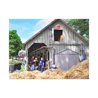 Barn #62 at Horse Haven - Saratoga Stretched Canvas Print