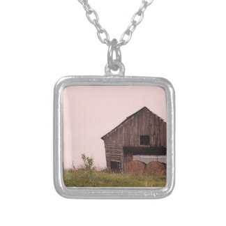 Barn and bales necklace