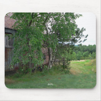 Barn and Path Mouse Pad