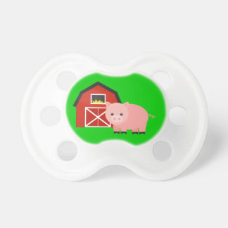 Barn and Pig Farm Gift Baby Pacifier Unique Gift