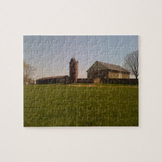 Barn and silo jigsaw puzzle