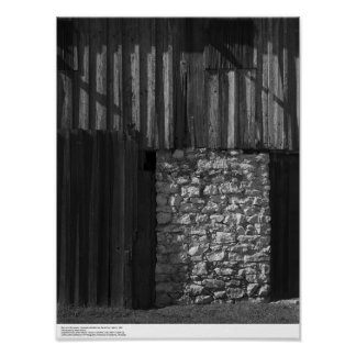 Barn and Stonework, UC Santa Cruz, March 1962 Poster