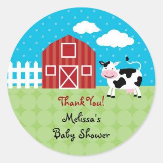 Barn Animals Favor Sticker