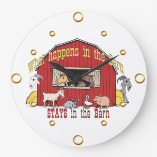 Barn Animals Wall Clock