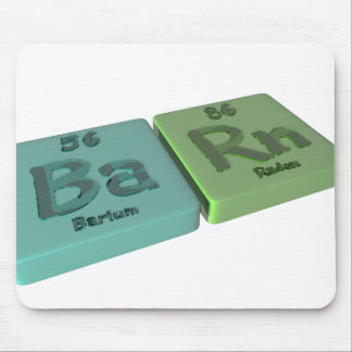 Barn as Ba barium and Rn Radon Mouse Pads
