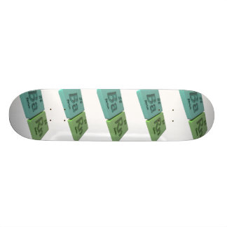 Barn as Ba barium and Rn Radon Skateboard Deck