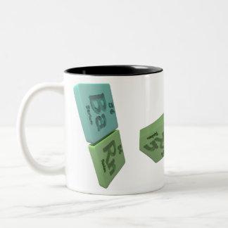Barn as Ba barium and Rn Radon Two-Tone Coffee Mug