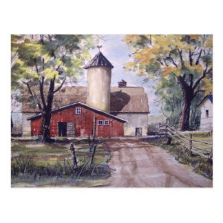 Barn at the end of the Driveway- postcard