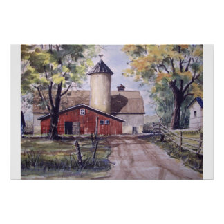 Barn at the end of the Driveway- poster