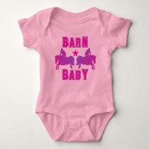Barn Baby Girl Hunter/Jumpers Baby Bodysuit
