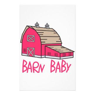 Barn Baby Stationery