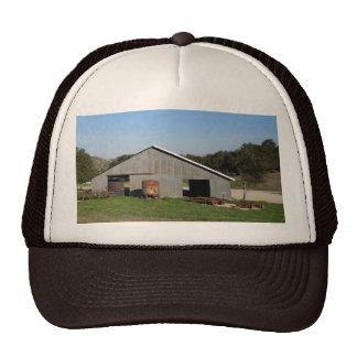 Barn Behind York Mountain Tasting Room Mesh Hat