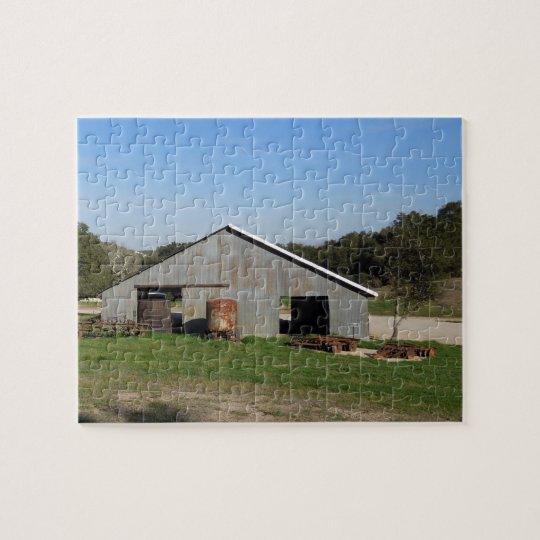 Barn Behind York Mountain Tasting Room Jigsaw Puzzle