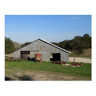 Barn Behind York Mountain Tasting Room Postcard