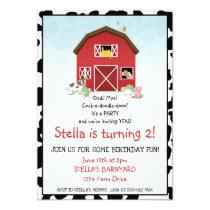 Barn Birthday Invitation