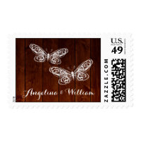 Barn Board Butterflies Stamp