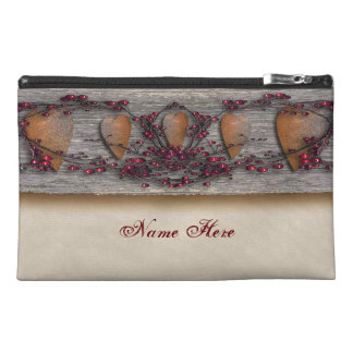 Barn Boards Rusted Hearts Travel Accessory Bag