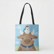 Barn Buddies - Cow & Chick Tote Bag