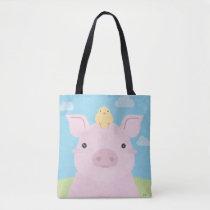 Barn Buddies - Piglet & Chick Tote Bag