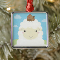 Barn Buddies - Sheep & Chick Metal Ornament