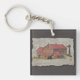 Barn Buggy & Windmill Keychain