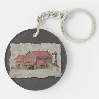 Barn Buggy & Windmill Keychain