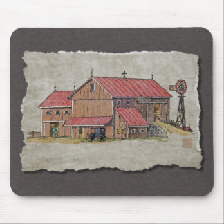 Barn Buggy & Windmill Mouse Pad