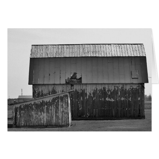 """""""barn"""" by Larry Coressel Greeting Cards"""