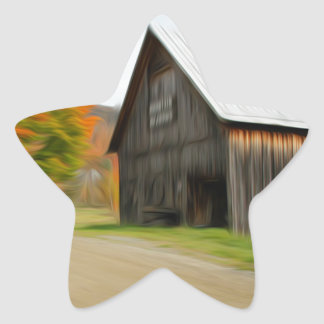 Barn by the road star sticker