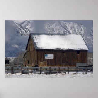 Barn, Carson Valley, Nevada Poster
