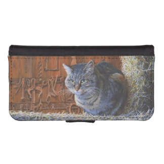 Barn Cat Acrylic Painting iPhone 5/5s Wallet