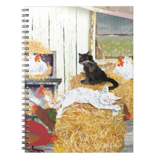 Barn cats napping notebook